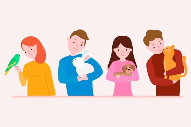 PetShop Satış Programı Nedir? Nasıl Kullanılır? - flat design people with different pets set 23 2148397528